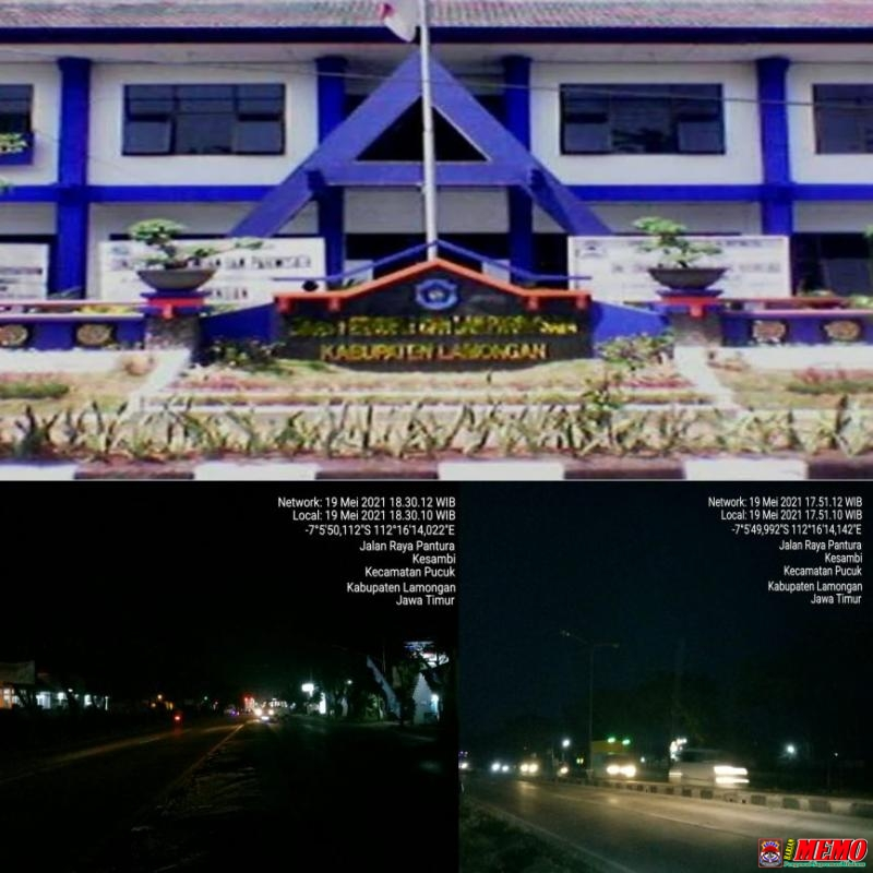 Dishub Lamongan Diduga Tidak Serius Perbaiki Lampu PJU di Jalan Nasional Wilayah Pucuk