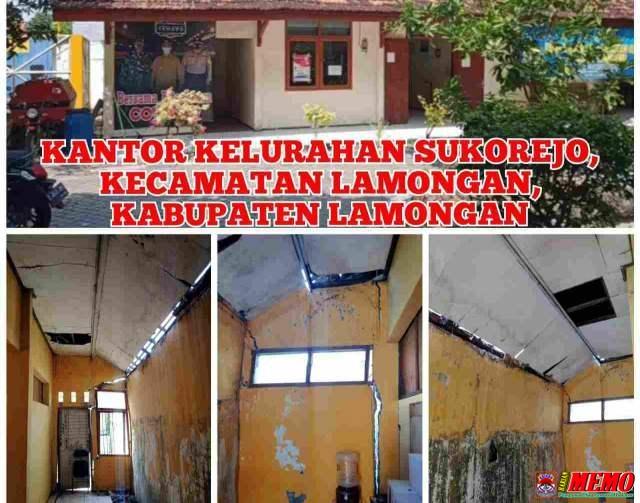 Miris!! Gedung Kelurahan Sukorejo Hampir Roboh, Pemerintah Setempat dan Pemkab Lamongan Tutup Mata