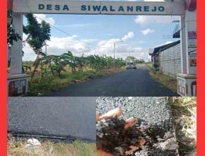 Proyek Pembangunan Aspal Jalan di Desa Siwalanrejo-Sukodadi Diduga Sarat Penyimpangan