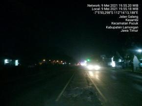 Lampu PJU di Jalan Raya Pucuk Banyak yang Mati, Dishub Lamongan Tutup Mata?