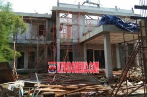 Proyek Pembangunan Gedung Kelurahan Lontar, Diduga dikerjakan Asal-asalan (Amburadul)